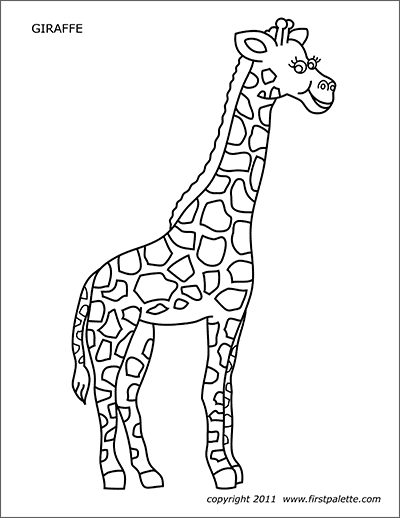Giraffe Free Printable Templates Coloring Pages Firstpalette Com