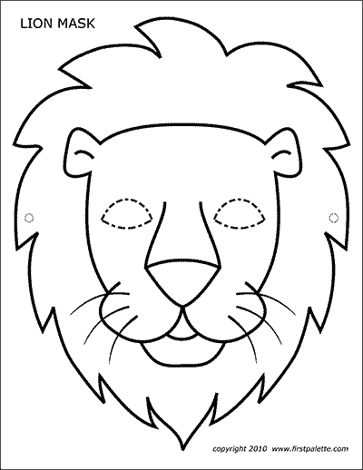 Lion Free Printable Templates Coloring Pages Firstpalette Com