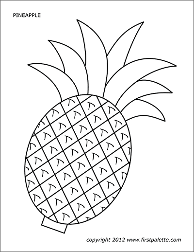 Pineapple Free Printable Templates Coloring Pages Firstpalette Com