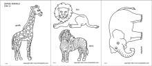 Printable Jungle Animals Coloring Pages