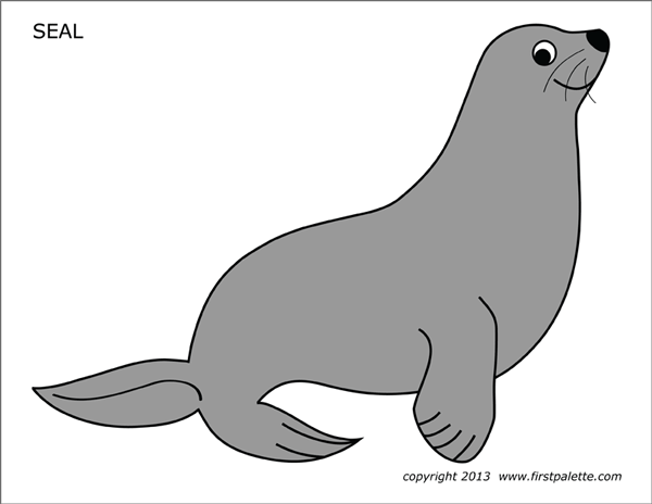 Seal Free Printable Templates Coloring Pages Firstpalette Com