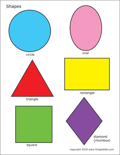 basic shapes free printable