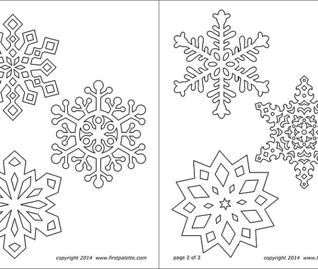 Snowflake Coloring Pages Free Printable Templates Coloring