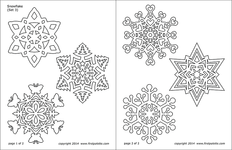 Snowflake Coloring Pages Free Printable Templates Coloring Pages Firstpalette Com