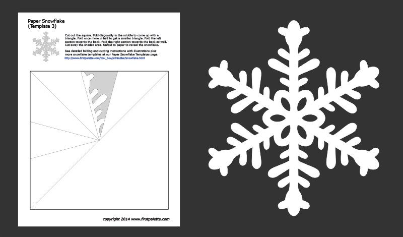 Paper Snowflake Templates Free Printable Templates Coloring Pages Firstpalette Com