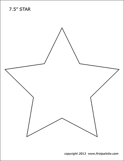stars free printable templates