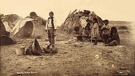 An Apache Camp Scene