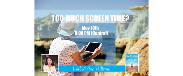 Too Much Screen Time Banner for Website Front page