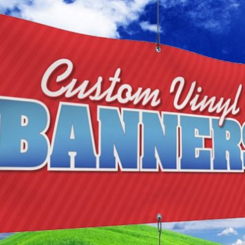 Vinyl Banner with hems and grommets