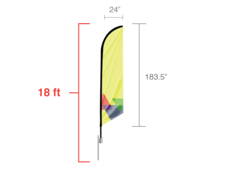 Angled Feather Flag