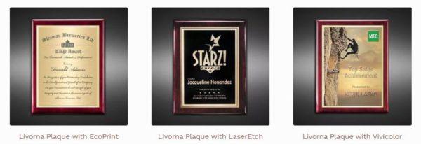 Plaque awards