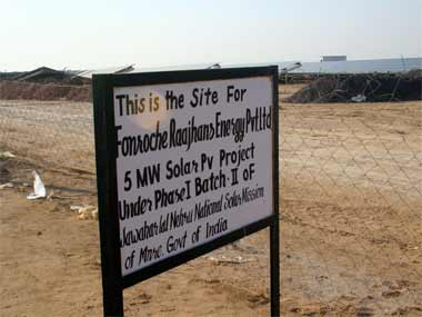 The site of an upcoming solar plant in Bikaner. Raman Kripal/ Firstpost
