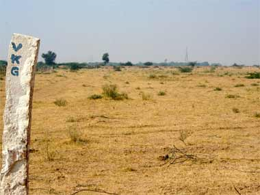 Land in Bikaner where a solar plant is to be set up. Raman Kripal/ Firstpost