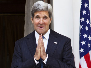 US Secretary of State John Kerry in India on Monday. AFP