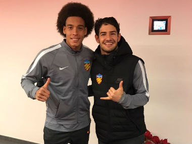 Axel Witsel and Alexandre Pato will play under Fabio Cannavaro. Image credit: Twitter/ @axelwitsel28
