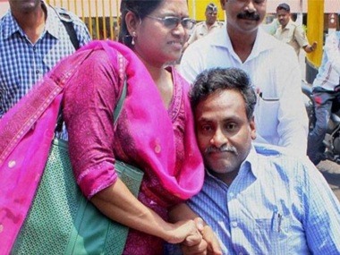 File image of Vasantha Kumari and DN Saibaba. PTI