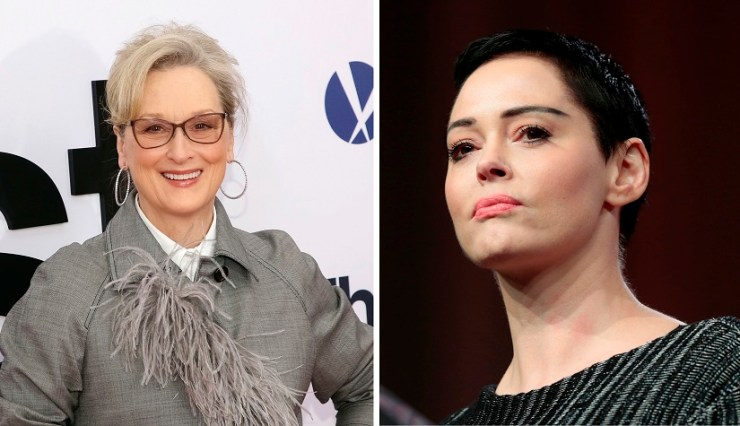 Meryl Streep and Rose McGowan. Agencies