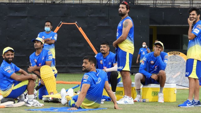 All members of the Chennai Super Kings squad, barring the two who tested positive for COVID-19, are likely to begin training from Friday. Image credit: Twitter/@ChennaiIPL
