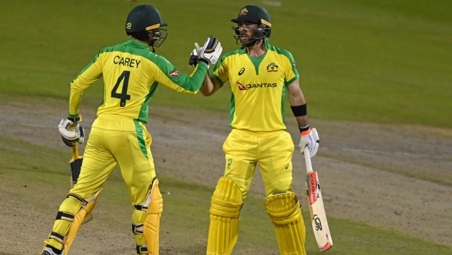 Glenn Maxwell and Alex Carey6 put up a 212-run stand after Australia were 73/5 to help their win to win. AFP