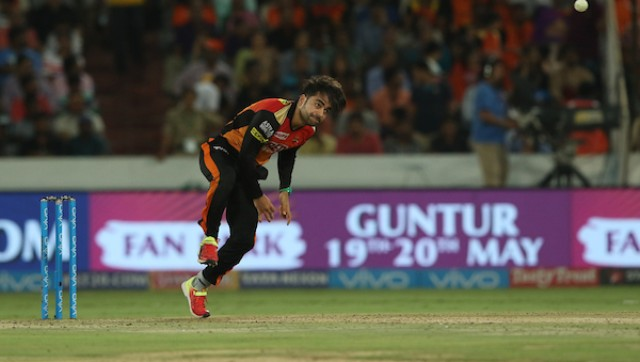 Rashid Khan of the Sunrisers Hyderabad pictured during the IPL. SportzPics