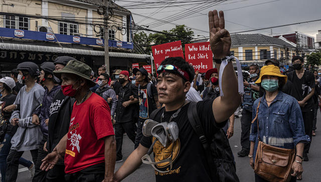 In Thailand discontent of prodemocracy protesters bubbles over as government battens down hatches