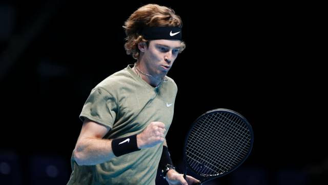 ATP Finals 2020 Nadal earns hardfought win over Tsitsipas to reach semifinals Rublev downs Thiem in deadrubber