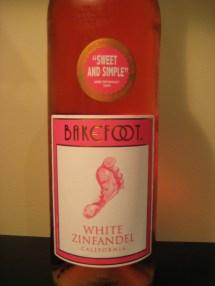 Moscato Wine Barefoot White Zinfandel