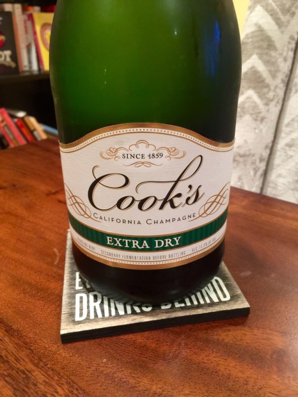 Cook39s Extra Dry California Champagne First Pour Wine