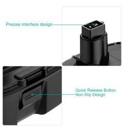 firstpower 18v replacement battery for dewalt dc9096 de9039 de9095 de9096 de9098 dw9095 dw9096 dw9098 de9503 [ 1200 x 1200 Pixel ]