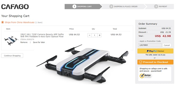 JJRC H61 discount coupon code