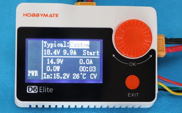 HobbyMate D6 Elite review: Output mode