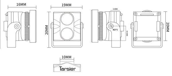 Caddx Tarsier camera size