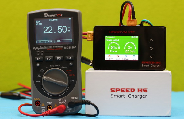 HOBBYMATE Speed H6 charger review: Power supply mode test
