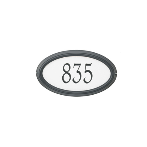 Reflective- Concord Oval Address Plaque ] choose: copy/color