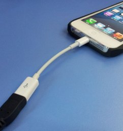 fs09326 lightning 8pin male to micro usb 5pin female adapter cable for iphone 5 [ 1004 x 1000 Pixel ]