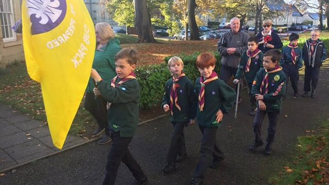 Fairfield Scouts Remembrance Sunday