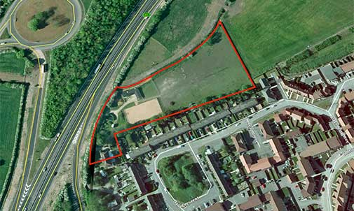 Newark - Site with potential for 30/35 dwellings subject to planning.
