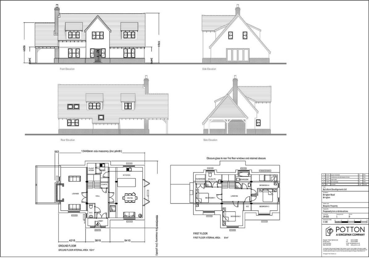 Self Build Brington - House Plans