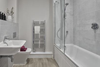 Apt B Place Bathroom