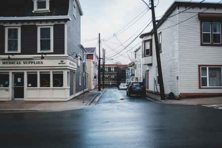 light city street storm