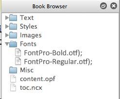 SIGIL font folder