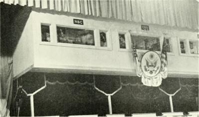 photo of a press box