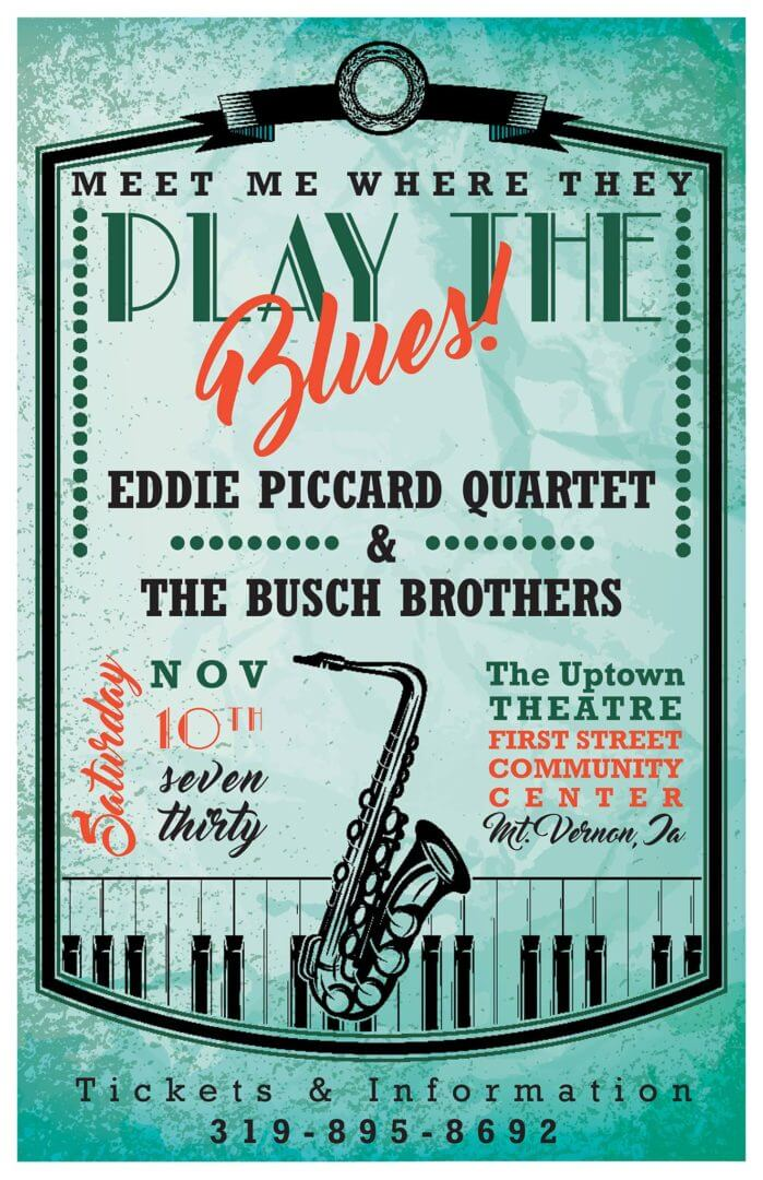 poster for Eddie Piccard Jazz concert