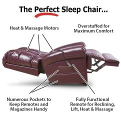 Perfect Sleep Chair Recliner Upholstered Swivel Rocker Chairs Lift Chairs, Sleeper Tv | Firststreet Selection