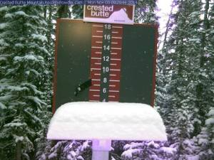 Four inches of new snow today at Crested Butte in Colorado. (photo: CBMR)