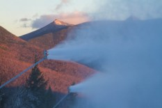 Snow guns roared to life this morning at Loon Mountain in New Hampshire (photo: Loon Mountain)