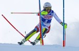 Wendy Holdener (SUI) competes in the first run of the Slalom during the Audi FIS Ski World Cup at Killington in central Vermont on Sunday, November 27, 2016. (FTO photo: Martin Griff)
