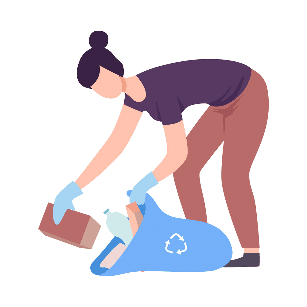 First Up Cleaning Services Female Technician Picking Up Trash