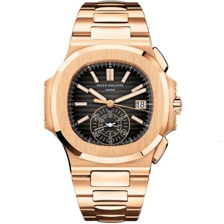 Replica Patek Philippe Nautilus Rose Gold Chronograph 5980/1R-001 - Patek Philippe Clone Watches