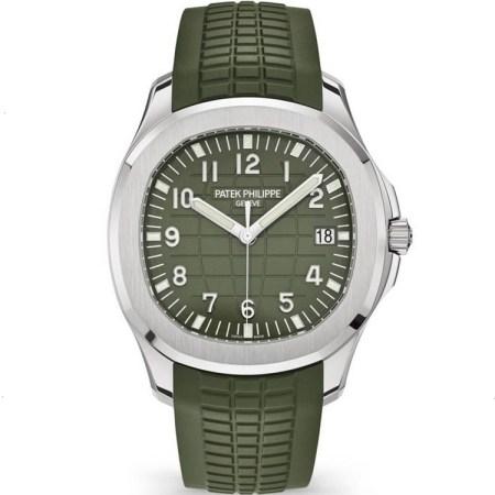 Replica Patek Philippe Aquanaut Green Dial 5168G-010 - Patek Philippe Clone Watches